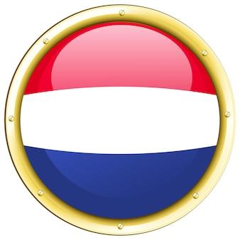 라운드 배지에 네덜란드의 국기
