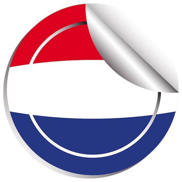 스티커 디자인에 네덜란드의 국기