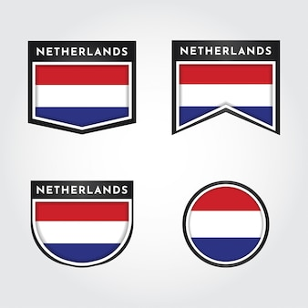레이블이있는 네덜란드의 국기