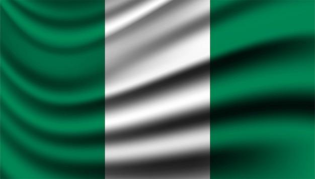 Флаг нигерии фон шаблона.