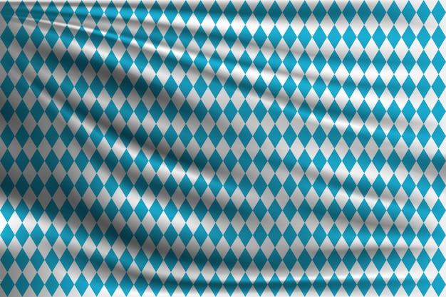 물결 모양의 직물에 옥토버 페스트의 국기