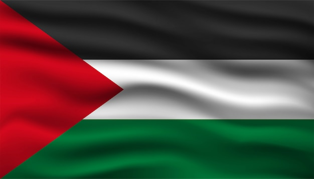 パレスチナの背景テンプレートの旗。
