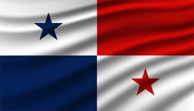 パナマの背景の旗。