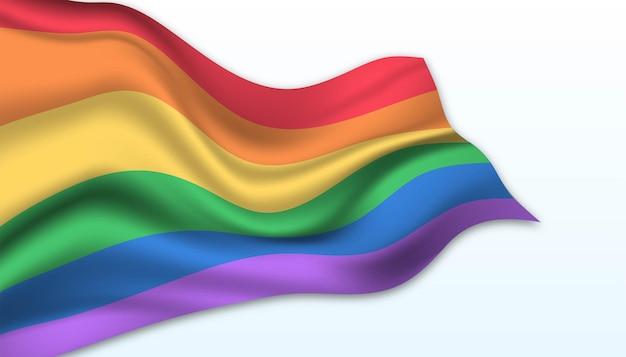프라이드 배경의 국기입니다.
