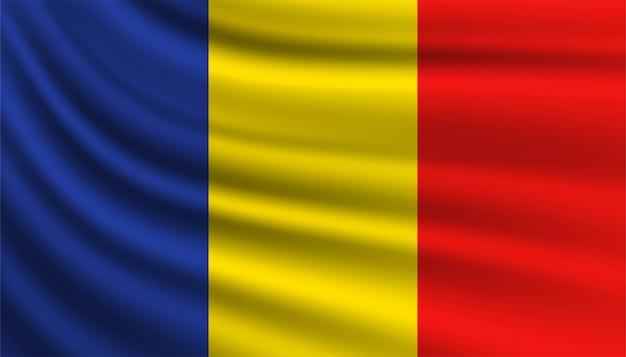 ルーマニアの背景テンプレートの旗。