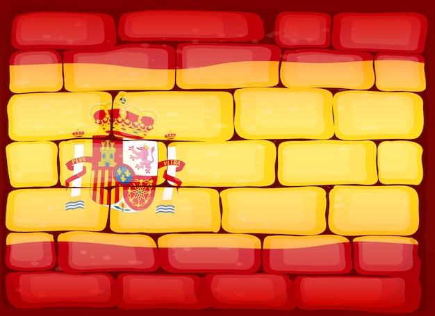 벽에 그려진 스페인의 국기