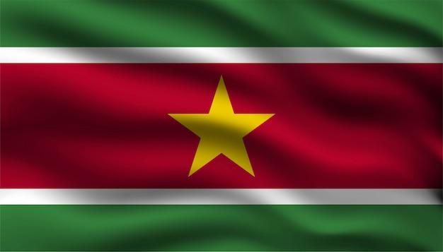 スリナムの背景の旗。