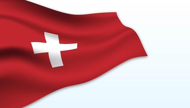 스위스 배경의 국기입니다.
