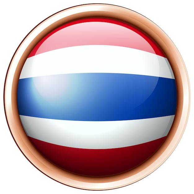라운드 프레임에 태국의 국기