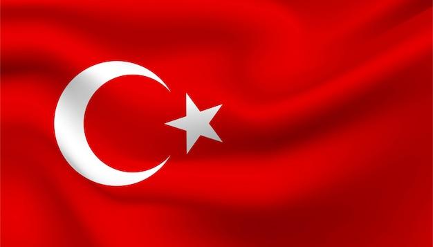 터키 배경의 국기입니다.
