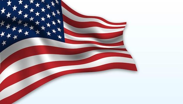 アメリカの背景の旗。