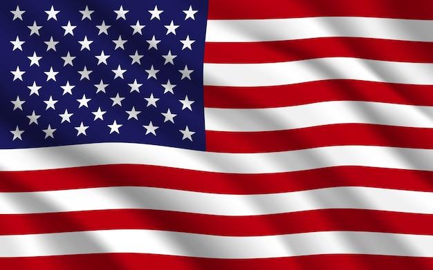 アメリカまたはアメリカ合衆国の背景の旗。