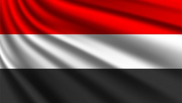 イエメンの背景テンプレートの旗。