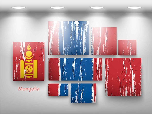 Flag paint in gallery