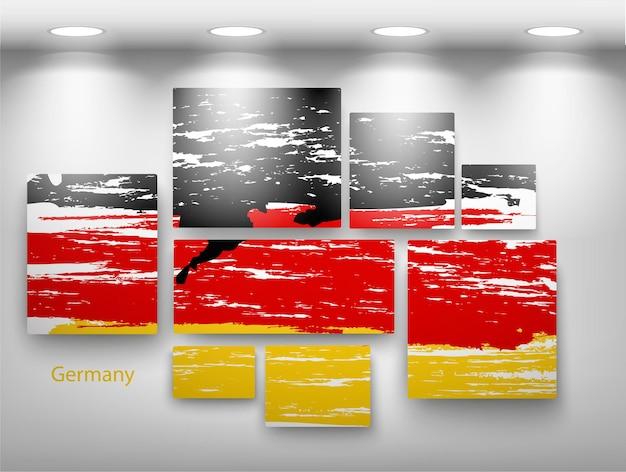 Пометить краску в галерее. векторная иллюстрация