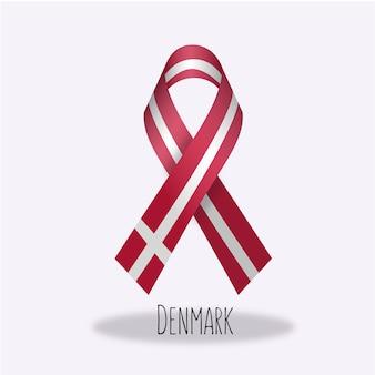 デンマークflag ribbon design