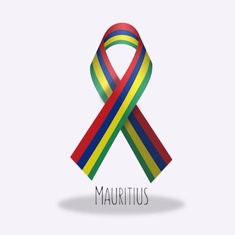 モーリシャスflag ribbon design