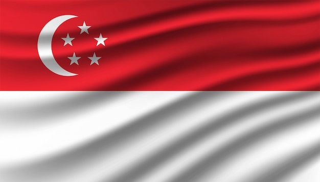 Flag of singapore background template.