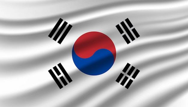 Flag of south korea background template.