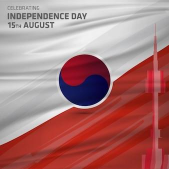 Festa nazionale della liberazione della corea corea gwangbokjeol astratto corea del sud il giorno dell'indipendenza