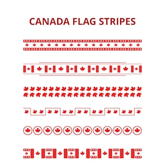 Flag stripes for canada day