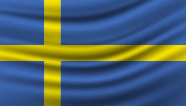 Flag of sweden background template.