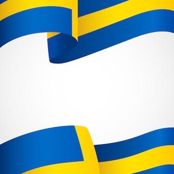 Flag of sweden on white