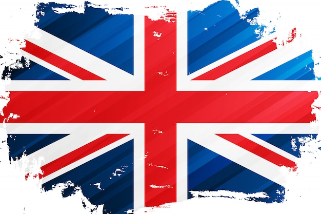 Flag of the united kingdom brush stroke background. national flag of the united kingdom. union jack