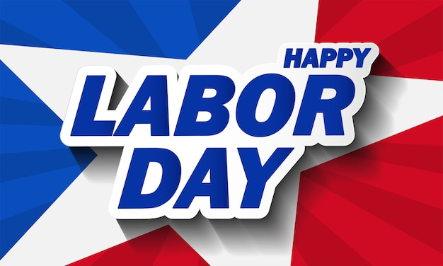 Flag usa background design for labor day background. illustration