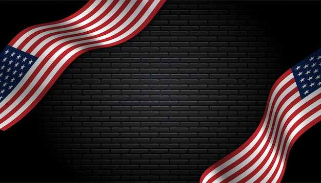 Flag of usa background.