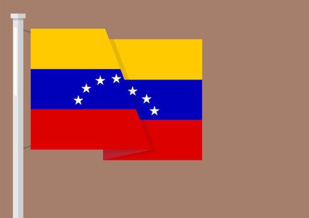 Flag of venezuela with copyspace