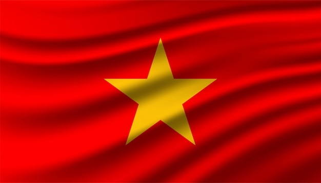 Flag of vietnam background template.
