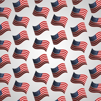 Flags american independence day national pattern