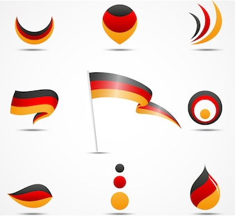 Flags and icons of Germany