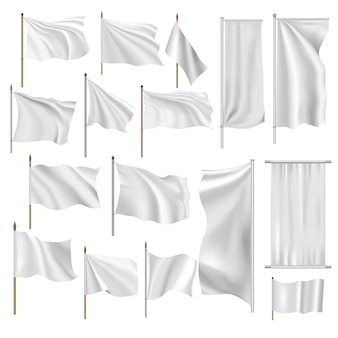 Flags and banners set