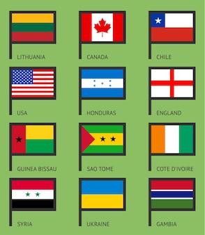 Flags flat set-01