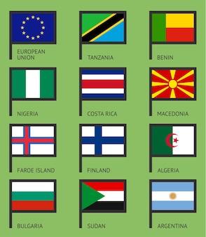 Флаги плоский набор-03