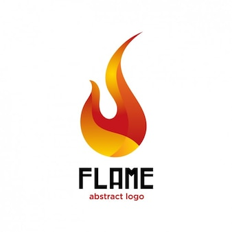 Flame abstract logo