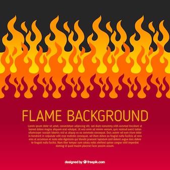 Sfondo fiamma in design piatto