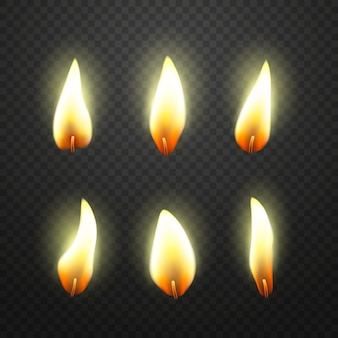 Flame of candles pack