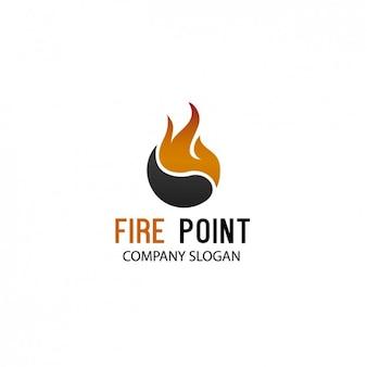 Пламя логотип компании шаблон