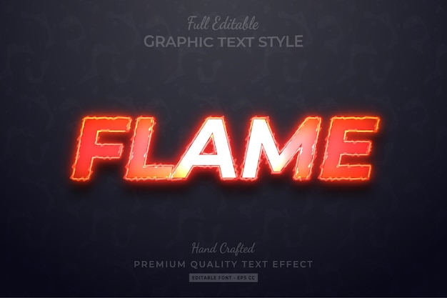 Flame editable custom text style effect premium