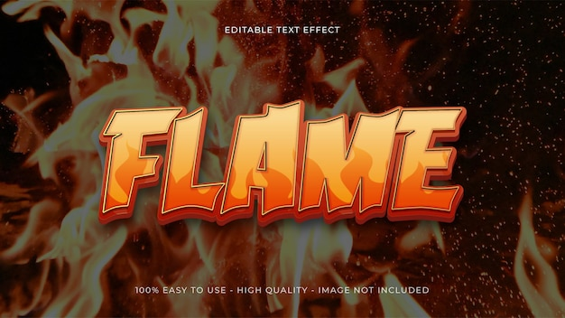 Flame editable text effect