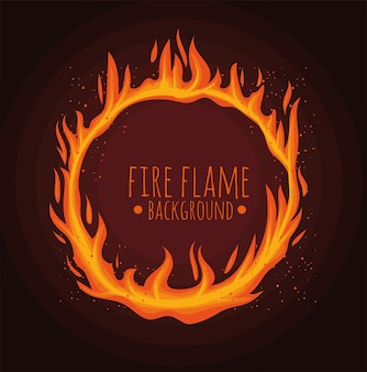 Flame lettering in circle