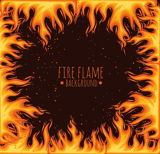 Flame lettering in frame