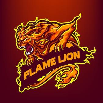 Flame lion талисман логотип