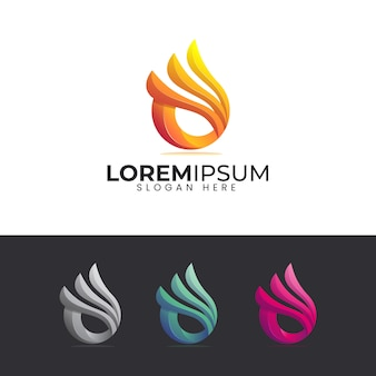 Flame logo with colorful style