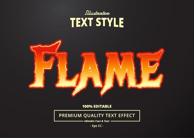 Flame text effect Premium Vector