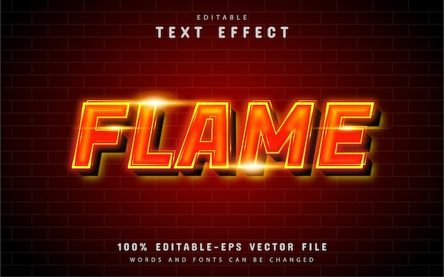 Flame text effect