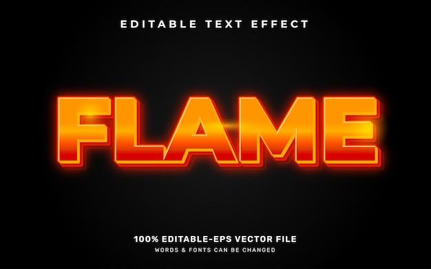 Текстовый эффект пламени Premium векторы
